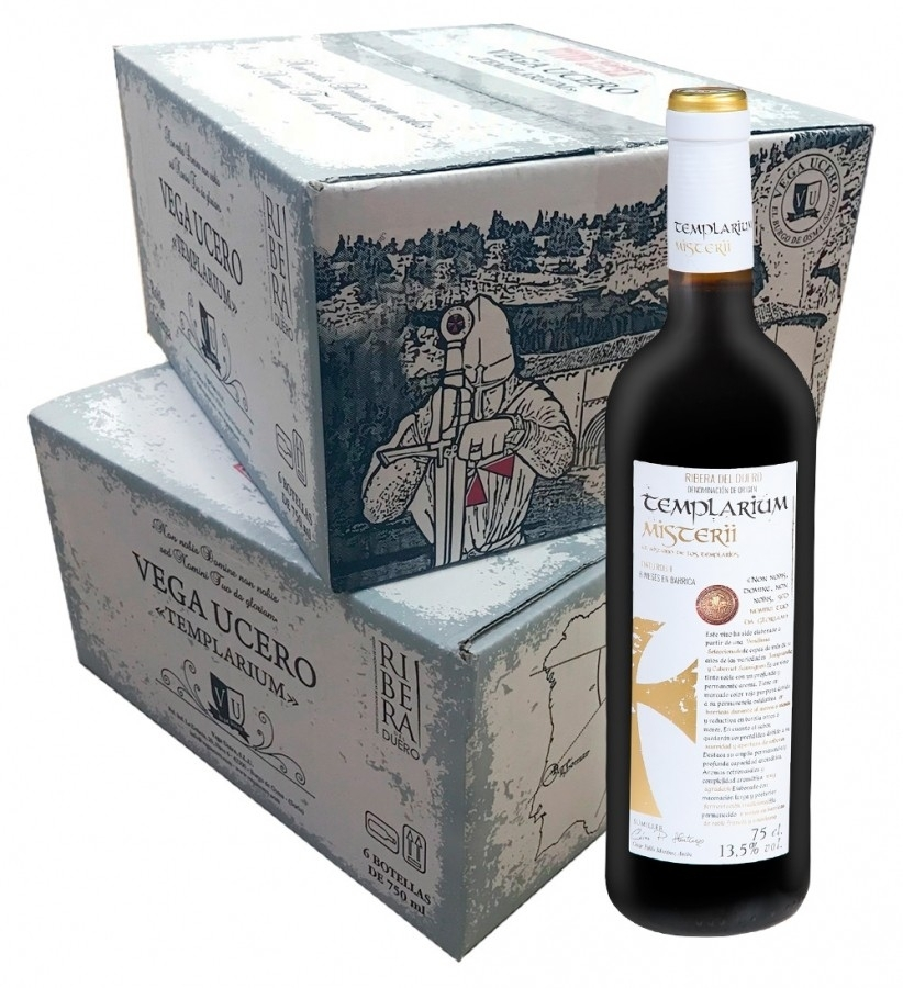 Templarium Misterii Roble 750ml. Caja 6 botellas